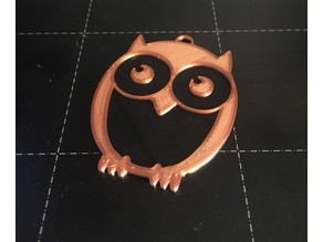2 Color Owl Keychain