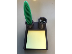 Cactus pen and Post-It note and paper clip holder
