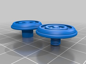 Spinner Cap threaded with rims for grip