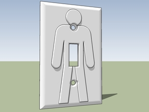 On/Off Light Switch Plate