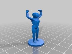 Flexing male minifigure