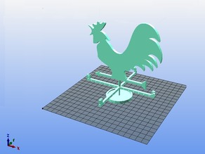 Rooster wind indicator