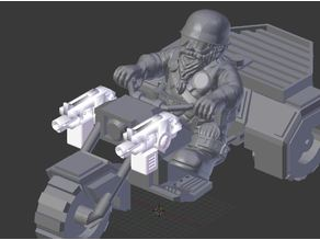 Bolters for space dwarf bikers