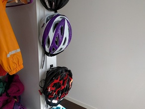 MTB Bicycle helmet hanger hook to keep track of all your bicycle (MTB) helmets