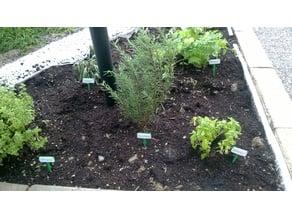 Herb garden label