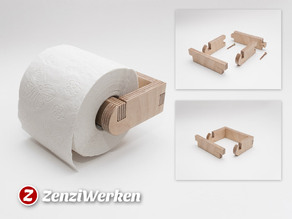 Simple Toilet Roll Holder cnc/laser