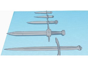 Daggers and Swords from Tinkercad