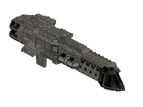BFG Imperial Lunar Class Cruiser for Printing