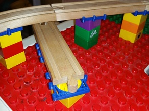 Duplo to 40mm Wide Wood Track Like Thomas / Brio Railway (Minimalist Approach)