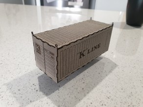 Laser Cut Shipping Container
