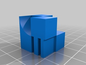 Overhang Calibration Cube
