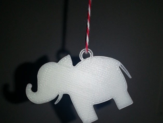 White Elephant Gift Tag By Christinachun Thingiverse