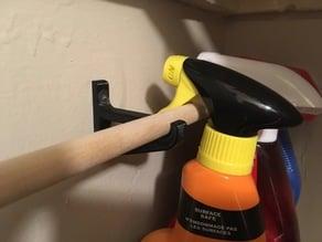 Dowel Spray Bottle Hanger Bracket