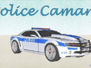 Police Chevrolet Camaro car for #WeLoveCars collection by Whatakuai