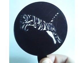 Tiger Coffee Stencil (Lasercut/3DPrint)