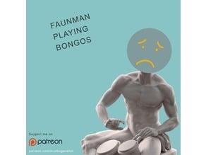 Faunman Playing Bongos