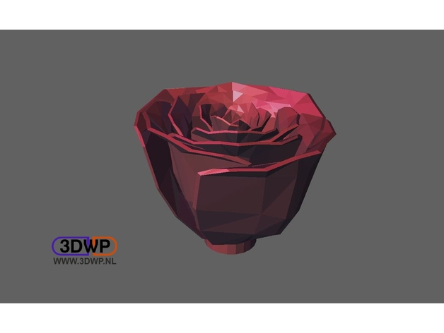 Jillian's Rose Fixed (Made Solid With MeshMixer) by 3DWP