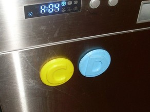 Clean and Dirty magnetic labels for the dish washer