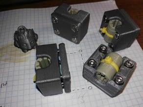 Zip-tie // 2part bearing block - for LM8UU or Igus Drylin RJ4JP-01-08