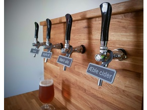 Customizable draught beer hanging sign