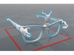 halloween devil glasses .