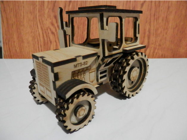 Combined Model For Laser Cutting Tractor Mtz By Maketof Com Thingiverse