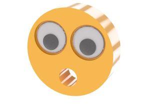 Emoji Magnet - Googly Eye Circle Mouth