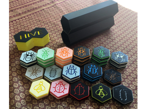 Storage Box for Hive Game with Multi Color Tiles