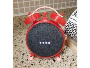 Alarm clock stand for Google home mini