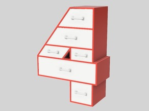 4-Frame Set of Drawers