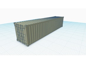 N Scale Shipping Container
