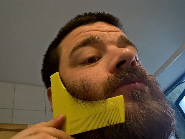 photograph relating to Beard Shaping Template Printable called Beard shaping instrument as a result of eried - Thingiverse