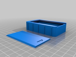 Slide-Lid Box with grips