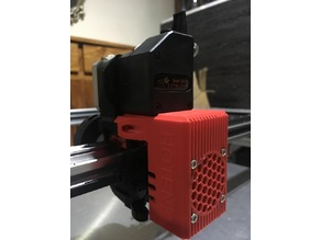 BLV Block Shield for BMG Direct Extruder + BLTouch (Honeycomb Fan Grill)