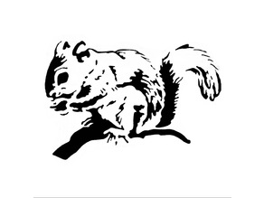 Squirrel stencil