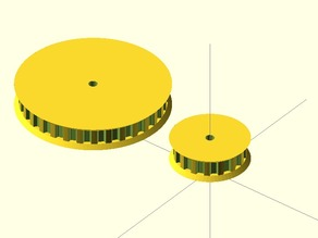 Parametric pulley as module: show more then one at a time