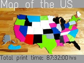 Map of USA States puzzle