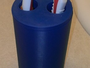 Toothbrush holder with large holes for large handled toothbrushes