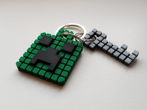 Minecraft Creeper Keychain (single extruder)