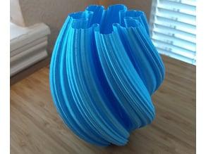 Julia Fractal Twist Vase