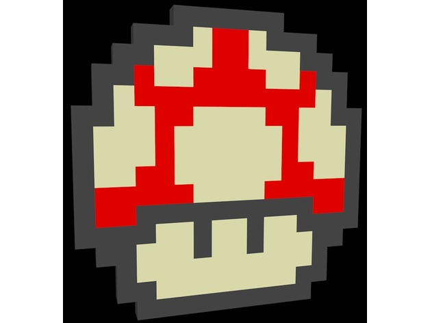 Pixel Art Super Mario Mushroom By Syrus54 Thingiverse