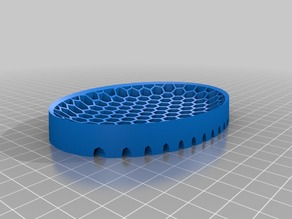 Soap Dish Hex Pattern with Drainage
