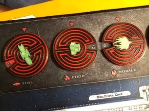 Battlestar Galactica BSG Board game Resource Wheels