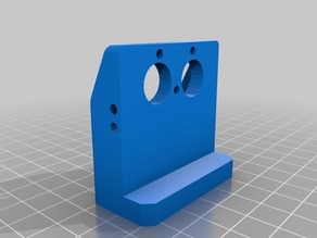 Chimera_cyclops modded mount for Prusa, Anet, that offsets forward to home off bed