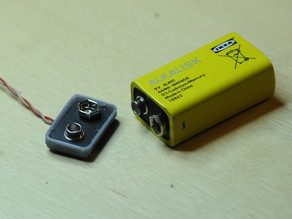 Cap for DIY 9V battery clip