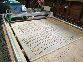 Plastic Monstrosity -- The 3D Printed CNC for 4x8' Plywood
