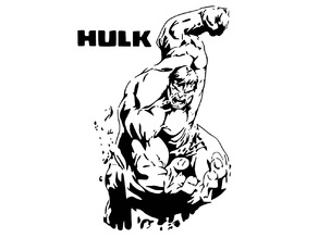 Hulk stencil 2