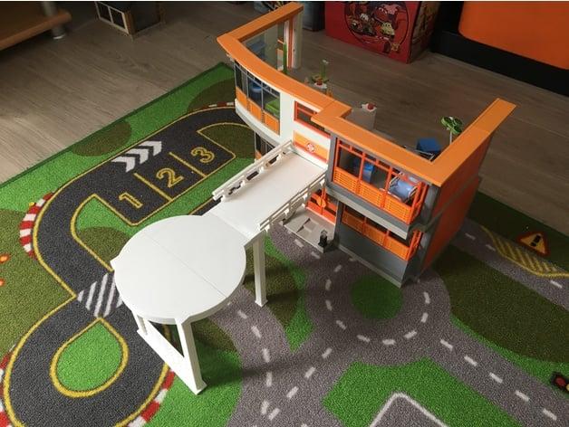 Heliport Pour Hopital Pediatrique Playmobil By Fdurand1983