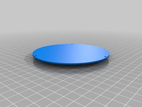 Acrylic design holder for 70x3 mm with a round type switch