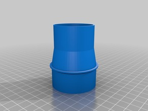 Connect vacuumhose from CNC to cyclone adapter
